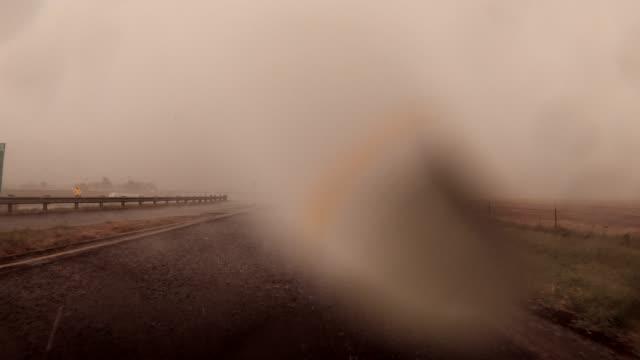 driving through the storm - tornado video stock e b–roll