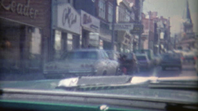 1973: Driving through the streets of Georgetown area in DC.