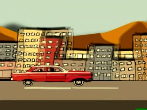 Driving thru the city NTSC video