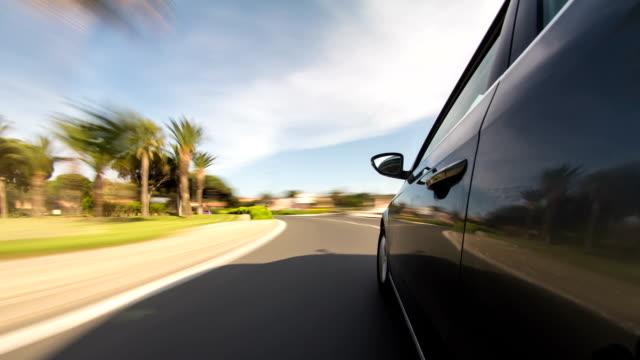 guida time lapse costa francese - sportello d'auto video stock e b–roll