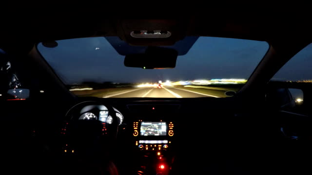 Driving time lapse from Amsterdam to Germany seen from inside the car Driving time lapse from Amsterdam to Germany seen from inside the car - with motion blur dashboard vehicle part stock videos & royalty-free footage