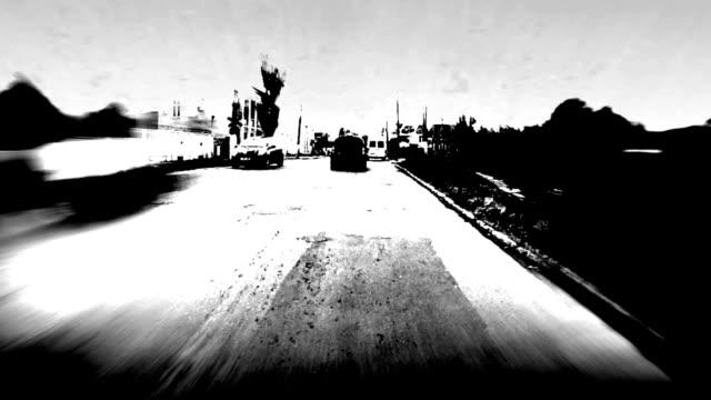 Driving POV, time lapse video