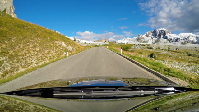 Driving up a mountain pass video