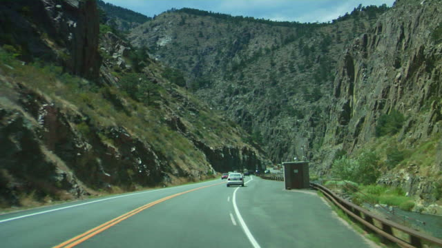 Driving up Rocky Mountains video