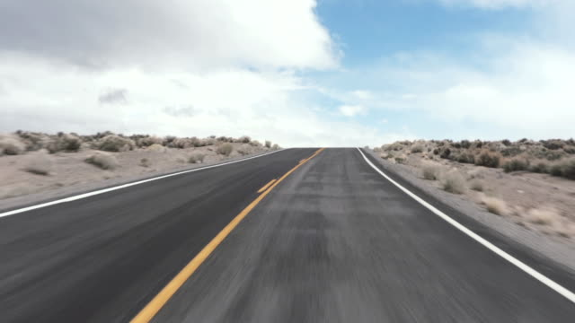 Driving USA: Exciting journey on road through the desert, California, USA video