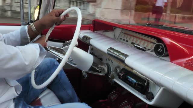 Driving Vintage Car video