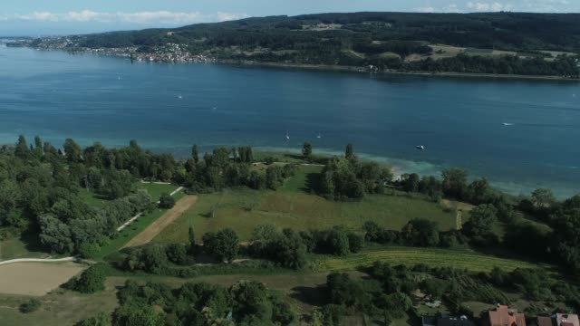 Drone aerial at Lake Constance