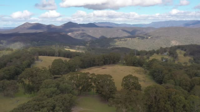 Drone aerial footage of Megalong Valley in The Blue Mountains in Australia video