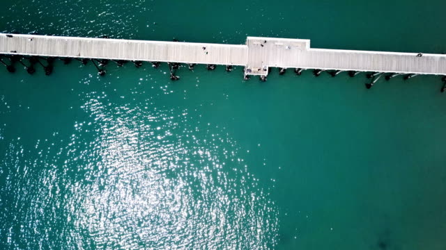 4K Drone aerial video of the California coastline with San Simeon Pier by Big Sur