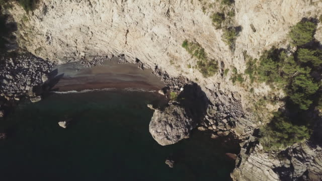 Drone aerial view of Amalfi coast and Sorrento peninsula video