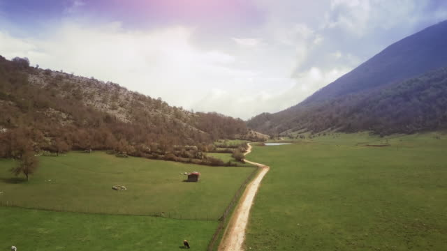 Drone aerial view of Italian landscapes video