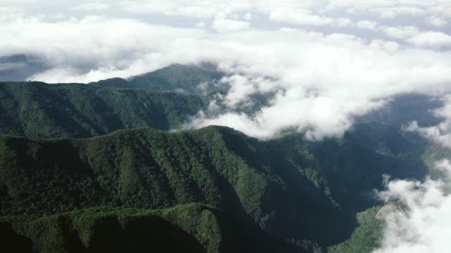 """vídeos de stock e filmes b-roll de drone aerial view of """"pico ruivo"""" mountains - ilha da madeira"""