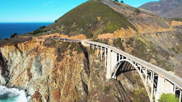4K Drone Bixby Bridge Big Sur, California