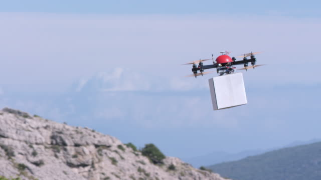SLO MO Drone delivering a package video