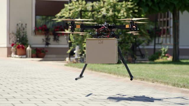 WS Drone delivering a package video