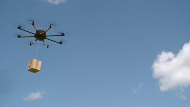 drone leverans - bära bildbanksvideor och videomaterial från bakom kulisserna