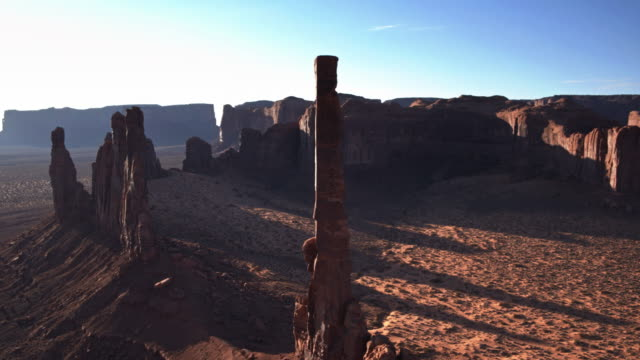 Drone Flight Around the Totem Pole, Monument Valley - Drone Shot video