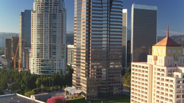 Drone Flight Circling Around Century City, Los Angeles video