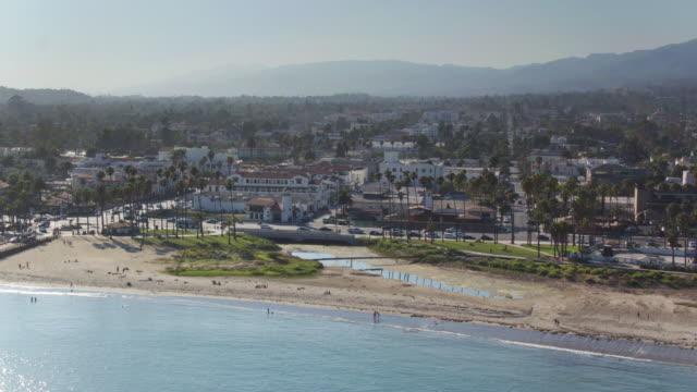 Drone Flight Inland Towards Santa Barbara, California video