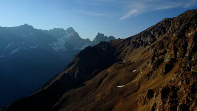 drone flight near mountains in chile - argentyna filmów i materiałów b-roll