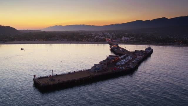 Drone Flight out to Sea Past Stearns Wharf, Santa Barbara video