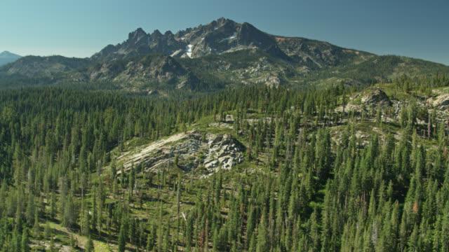 Drone Flight Over California Sierra Nevada Near Sierra Buttes