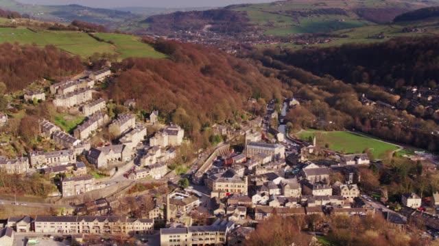 Drone Flight Over Hebden Bridge, West Yorkshire, UK video