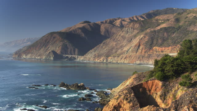 Drone Flight Over Rocky Outcrop in Big Sur video