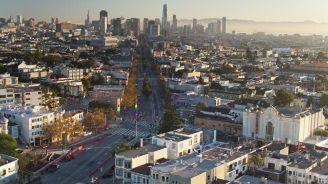 Drone Flight Over The Castro, San Francisco video