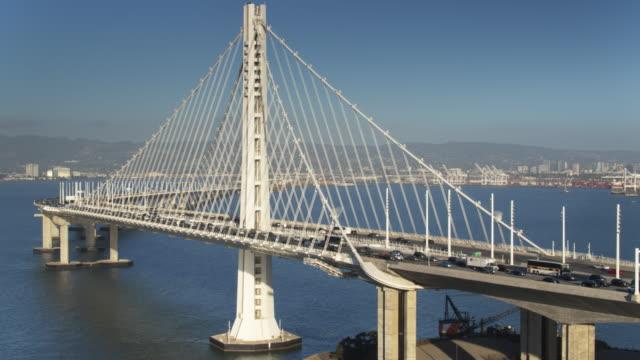 Drone Flight Past the San Francisco-Oakland Bay Bridge video