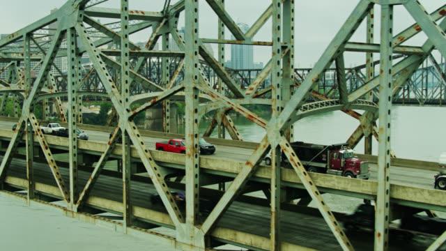 Drone Flight Past Traffic on Brent Spence Bridge video