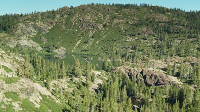 Drone Flight Towards Upper Salmon Lake in California Sierras