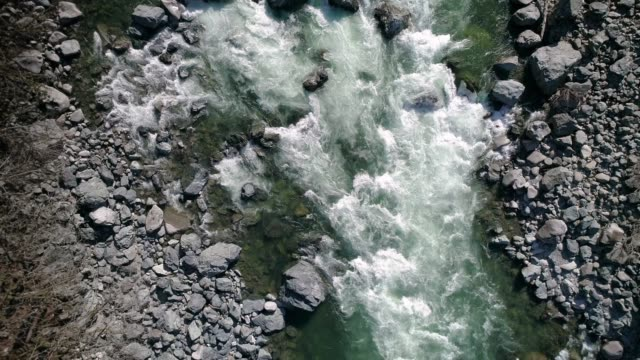 Drone Flying Down Colorful River video