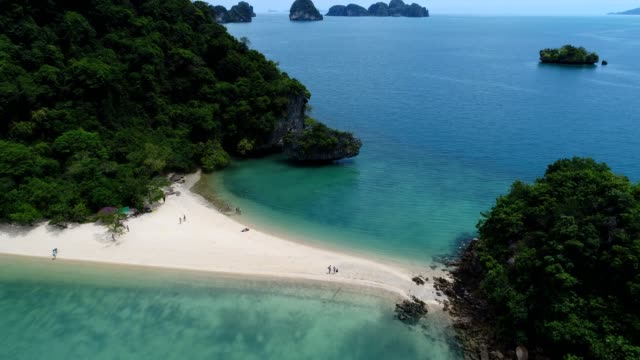 Drone flying over beautiful island in Thailand video