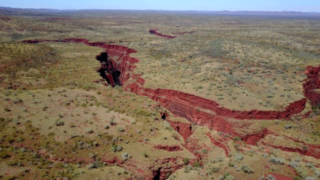 Drone flying over canyon in Australia video