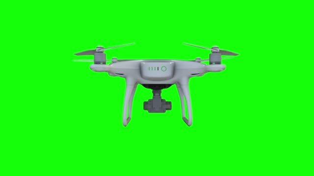 Drone Flying with action camera Drone Flying with action camera. Isolated on Green Screen Background. 3D rendering 4K propeller stock videos & royalty-free footage