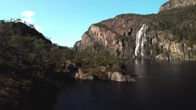 Drone footage - Norwegian waterfall