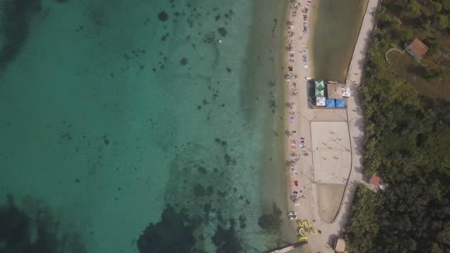 Drohne Aufnahmen von kroatischen Strand 4k – Video