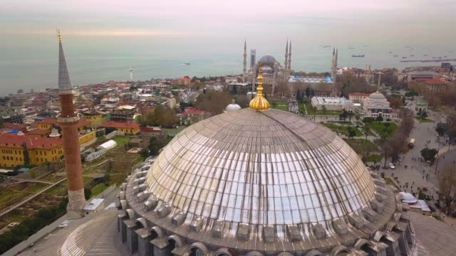Drone Footage of Hagia Sophia and Blue Mosque
