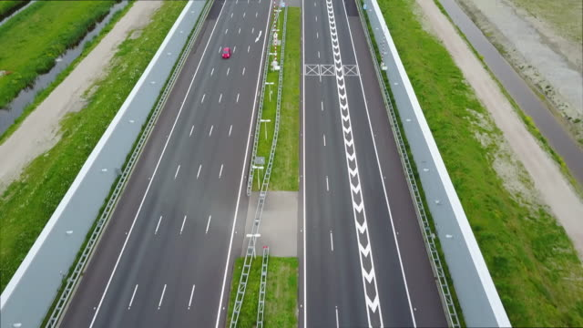 Drone footage of Highway Europe, Netherlands video