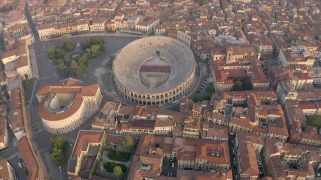 Drone footage of the Colosseum  Italy Drone zooming out footage of the Colosseum in , Italy renaissance architecture stock videos & royalty-free footage