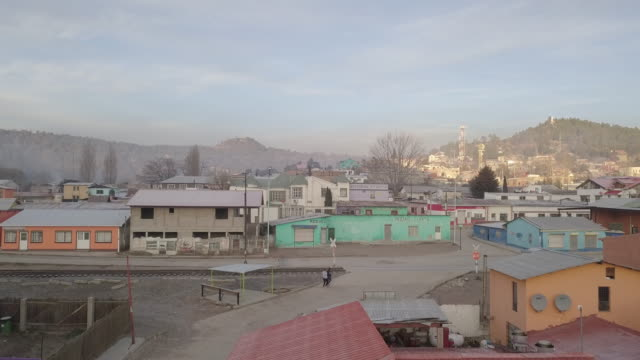 Drone Footage of the Small Town of Creel, Chihuahua Mexico