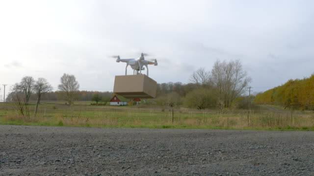 Drone lands and delivers a package video
