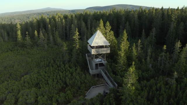 Drone Orbit Shot Of Watchtower