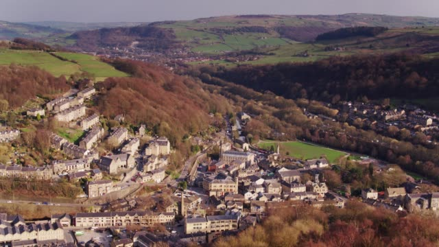 Drone Panorama of Hebden Bridge, West Yorkshire video