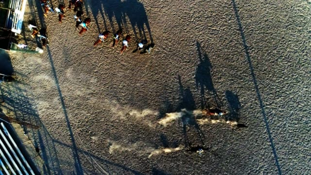 Drone photo of rodeo. video