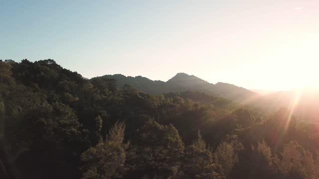 drone point of view kuala kubu rural scene