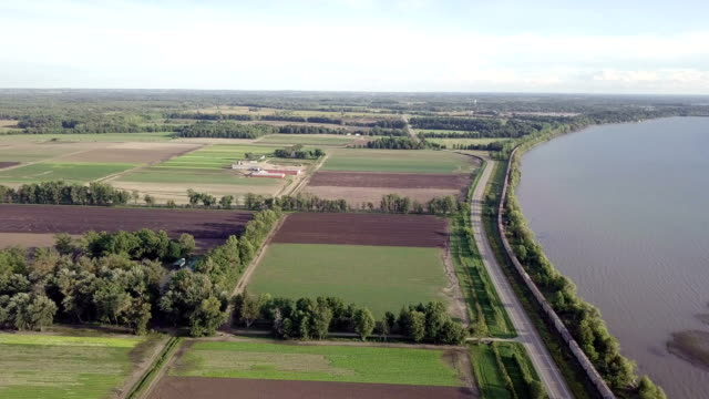 drone railway in ontario canadian - ontario canada video stock e b–roll