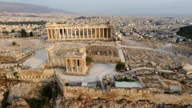 アクロポリスのドローン ショット - ギリシャ点の映像素材/bロール