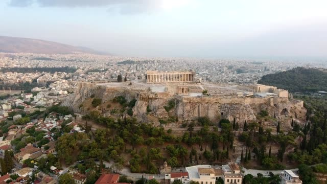 Drone Shot Of Acropolis video
